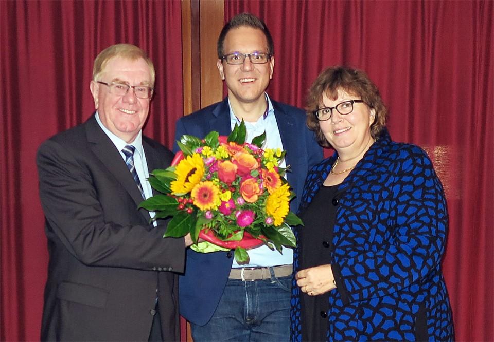 Reinhold Sendker MdB, Sebastian Seidel, sowie die stellv. Kreisvorsitzende Astrid Birkhahn MdL aus Everswinkel