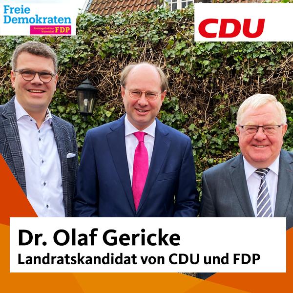 Markus Diekhoff MdL (FDP), Dr. Olaf Gericke, Reinhold Sendker MdB